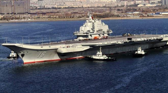 Trung Quoc bac tin dieu tau san bay toi Syria hinh anh 1 Hàng không mẫu hạm Liêu Ninh của Trung Quốc. Ảnh: RT