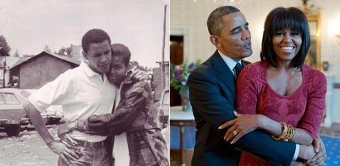 Khoanh khac dep cua vo chong Obama trong 23 nam chung song hinh anh 11 Vợ chồng tổng thống Mỹ chia sẻ hai bức ảnh chụp khoảnh khắc lãng mạn của họ nhân kỷ niệm 23 năm ngày cưới.