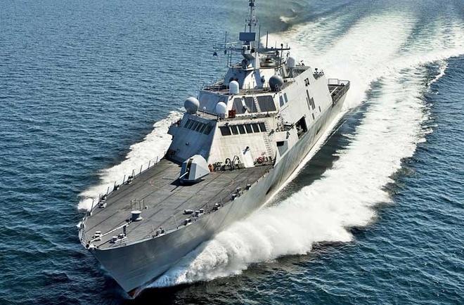 Hoc gia Trung Quoc noi se khai hoa neu My vao vung 12 hai ly hinh anh 1 Tàu chiến đấu ven biển USS Fort Worth của Hải quân Mỹ. Ảnh: Hải quân Mỹ