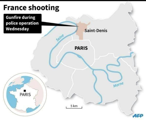 Hien truong vay rap nghi pham khung bo Paris hinh anh 10 Bản đồ thể hiện vị trí khu vực cảnh sát bố ráp các nghi phạm. Đồ họa: AFP