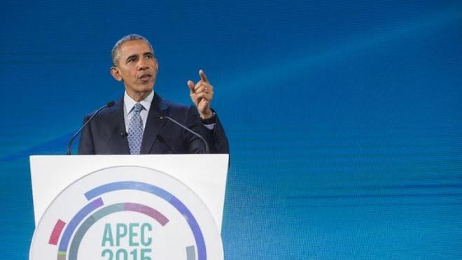 My va lanh dao ASEAN se ban ve Bien Dong hinh anh 1 Tổng thống Mỹ Barack Obama phát biểu tại