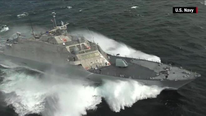 Ban co Bien Dong da co cach tiep can khac hinh anh 1 Siêu hạm tuần duyên vừa được biên chế cho hải quân Mỹ USS Milwaukee đang trên đường đến Biển Đông thực hiện tuần tra thường kỳ như tuyên bố của các nhà lãnh đạo Mỹ gần đây. Ảnh: U.S. Navy
