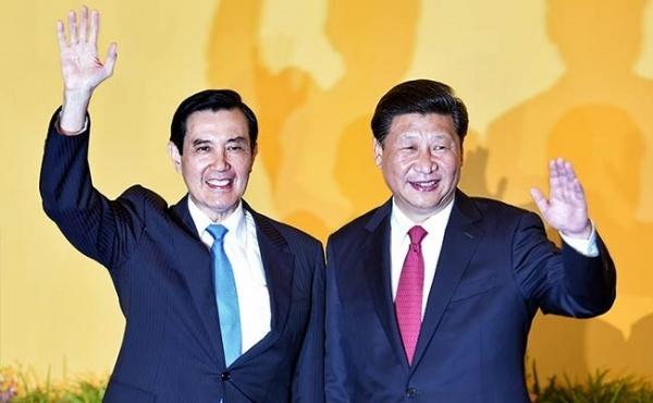 TQ va dao Dai Loan trao doi gian diep sau hoi dam lich su hinh anh 1 Lãnh đạo Đài Loan và Trung Quốc trong