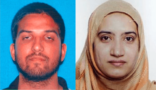 Nghi pham My tung am muu tan cong California nhung bat thanh hinh anh 1 Syed Farook và vợ Tashfeen Malik. Ảnh: ABC