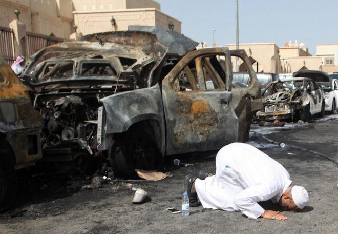 Danh bom, xa sung tai nha tho Hoi giao o Saudi Arabia hinh anh