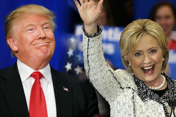 Ba Clinton, ong Trump thang lon o 5 bang hinh anh
