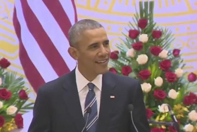 Obama dan tuc ngu Viet trong bai phat bieu hinh anh
