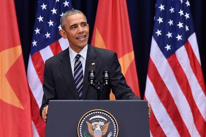 Tong thong Obama phat bieu ve quan he Viet - My hinh anh