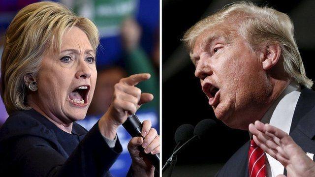 Clinton, Trump 'khai hoa' cuoc chien mang xa hoi hinh anh