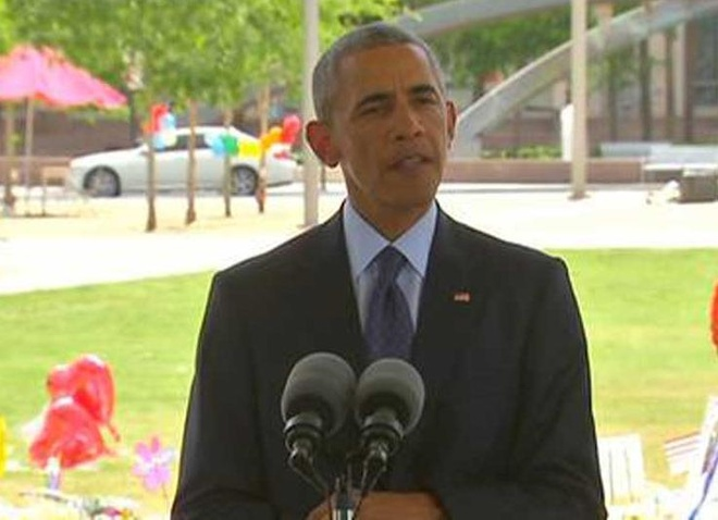 Obama tham gia dinh nan nhan tham kich Orlando hinh anh
