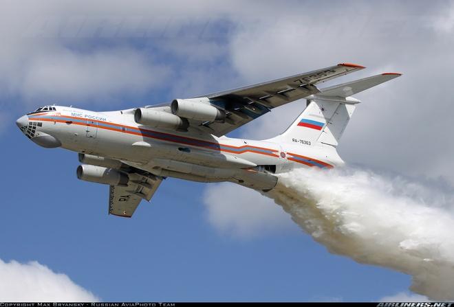 May bay Nga cho 10 nguoi mat tich khi chua chay rung hinh anh 1