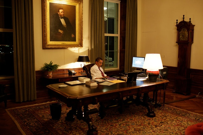 Tong thong Obama ve dem: Nhung gio rieng tu quy gia hinh anh 1
