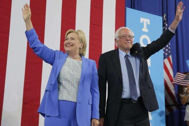 Sanders: Clinton phai tro thanh tong thong My hinh anh