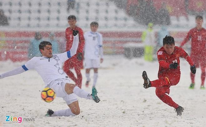 Quang Hai, Bui Tien Dung gap lai U23 Uzbekistan tai My Dinh hinh anh 1