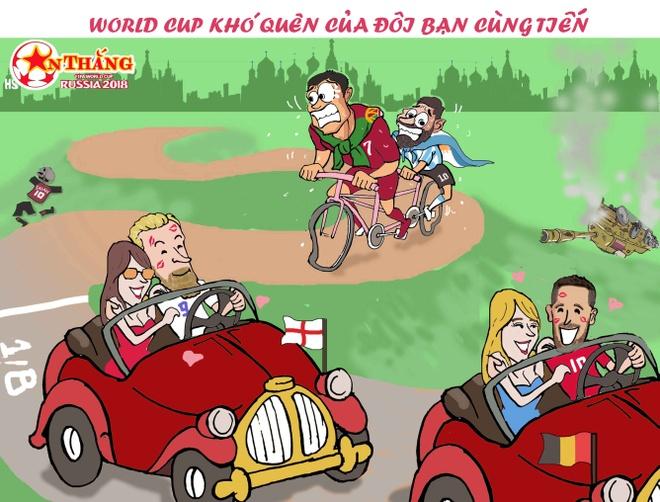 Hi hoa Ronaldo dap xe cho Messi duoi theo xe xin cua Kane, Hazard hinh anh 4