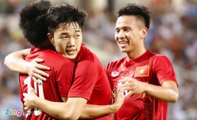 Dang Van Lam,  Bui Tien Dung,  U23 Viet Nam,  Park Hang Seo anh 2