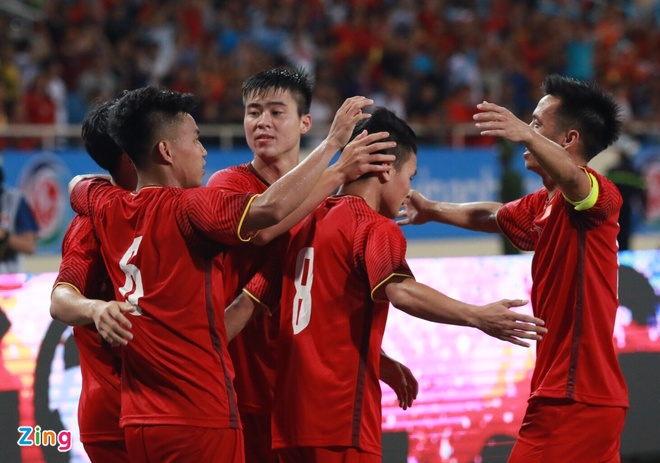 Olympic VN 2-1 Olympic Palestine: Cong Phuong ghi ban va kien tao hinh anh 1