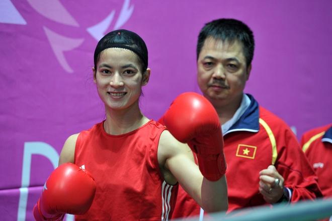 Le Thi Bang,  SEA Games 28,  Boxing,  Vu Thi Thuy Dung,  cua chan,  ASIAD anh 2