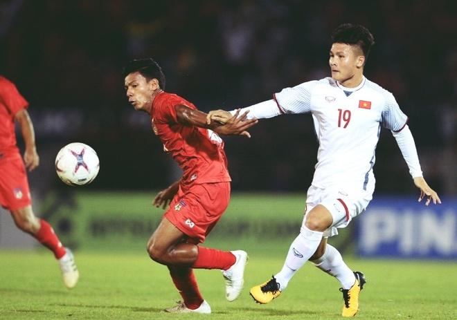 Quang Hai duoc GDKT cua CLB Thai League 'cham' o tran hoa Myanmar hinh anh