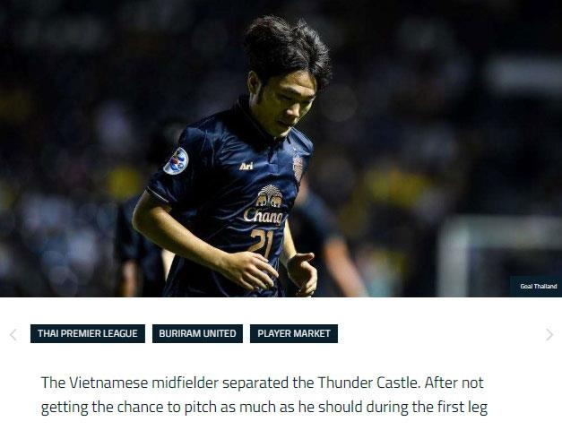 Bao Thai Lan dua tin Xuan Truong chia tay Buriram United hinh anh 1