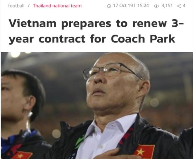 Bao Thai Lan: 'VFF chuan bi gia han 3 nam voi HLV Park' hinh anh 1