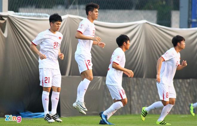 Quang Hai: 'U23 Viet Nam phai quyet tam cao hon Trieu Tien' hinh anh 1 THIN1425_zing.JPG