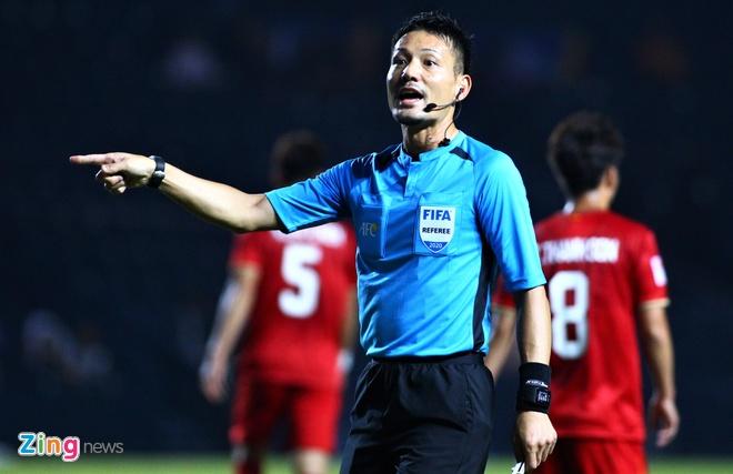 AFC khong lo U23 Viet Nam se bi loai vi cac doi thieu nhiet huyet hinh anh 3 sato_trong_tai_nhat_ban_zing.jpg