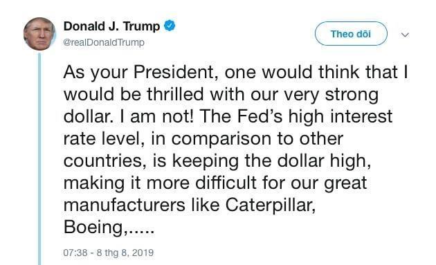 Tong thong My Donald Trump muon pha gia dong USD hinh anh 1