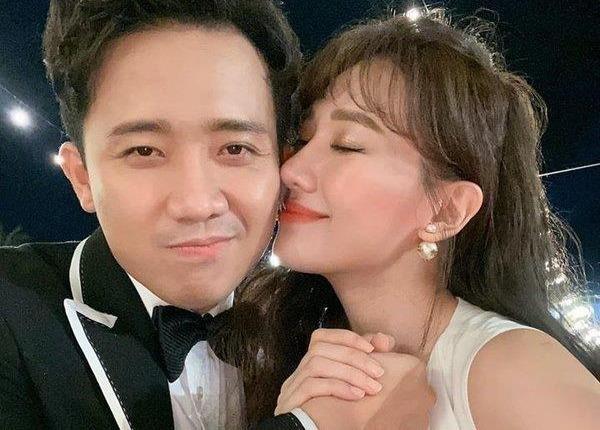 Hari Won 'to' Tran Thanh day sao Viet xuong nuoc o tiec cuoi Dong Nhi hinh anh