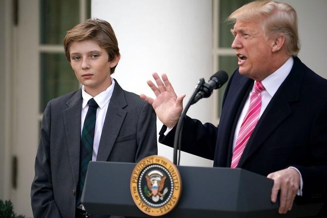 Tong thong Donald Trump tiet lo Barron la thien tai may tinh hinh anh 1 23.jpg