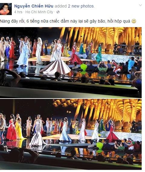 Nguoi dep Philippines dang quang Miss Universe 2015 hinh anh 6 Theo người đại diện của Phạm Hương, trong đêm chung kết, đại diện Việt Nam sẽ mặc chiếc đầm đuôi cá có sọc đen trắng, thay vì đầm lấy cảm hứng từ chim thiên nga như đêm bán kết.