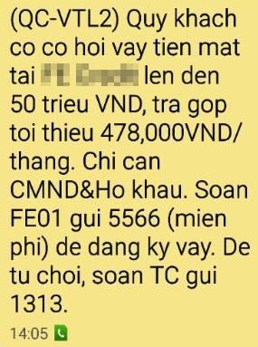 Khach to van nhan duoc tin nhan rac, Viettel phan phao hinh anh 1