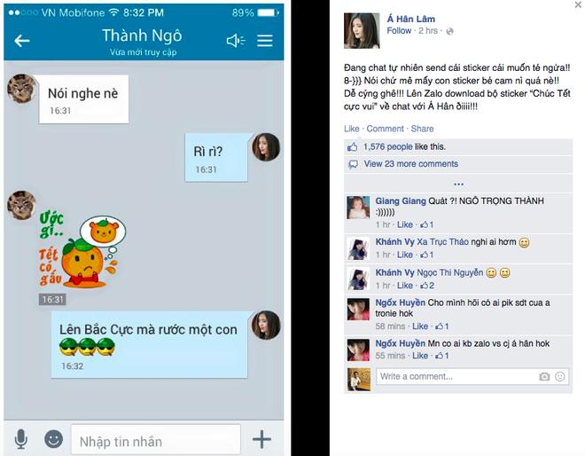 Đoạn chat sử dụng các sticker ngộ nghĩnh giữa Á Hân và thành viên nhóm 365 nhận được sự quan tâm của cộng đồng mạng.