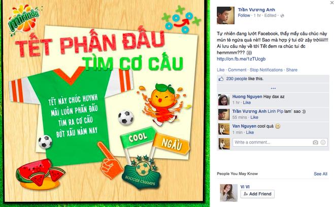 Trào lưu chúc Tết bằng bộ sưu tập thiệp trên facebook nhanh chóng được giới trẻ cập nhật.