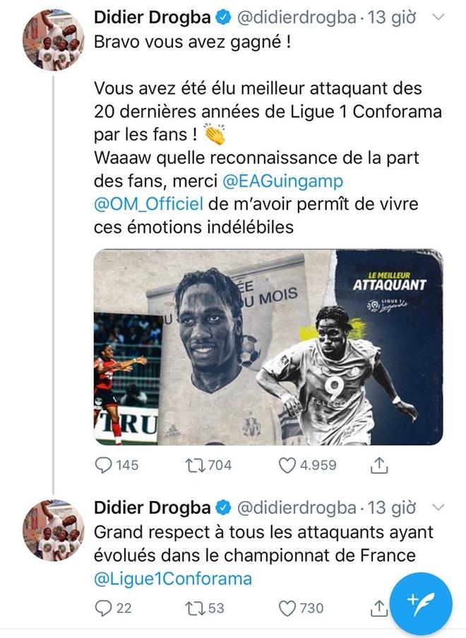 Drogba duoc binh chon la chan sut hay nhat Ligue 1 trong 20 nam qua anh 2