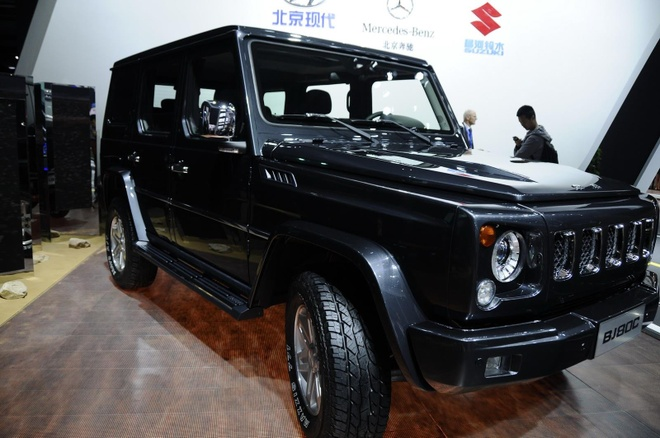 Xe Trung Quoc nhai Mercedes G-Class, giong ca tieng dong cua hinh anh 1