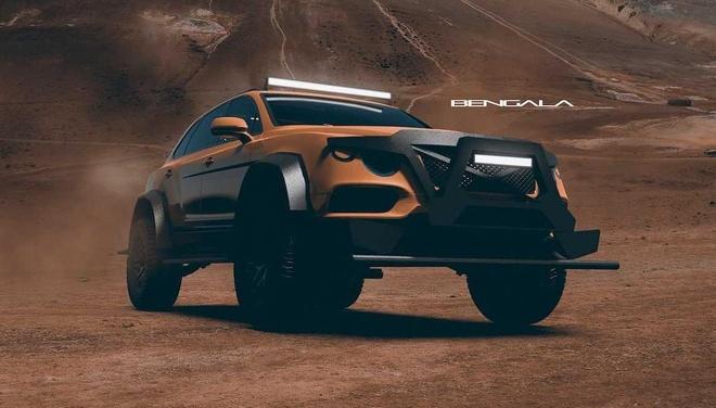 SUV mang hinh dang xe tang cua Bentley anh 4