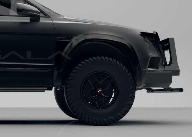 SUV mang hinh dang xe tang cua Bentley anh 5