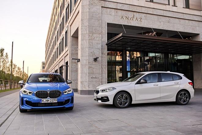 BMW 1-Series 2020 lo dien, dan dong cau truoc, noi that rong hon hinh anh 1