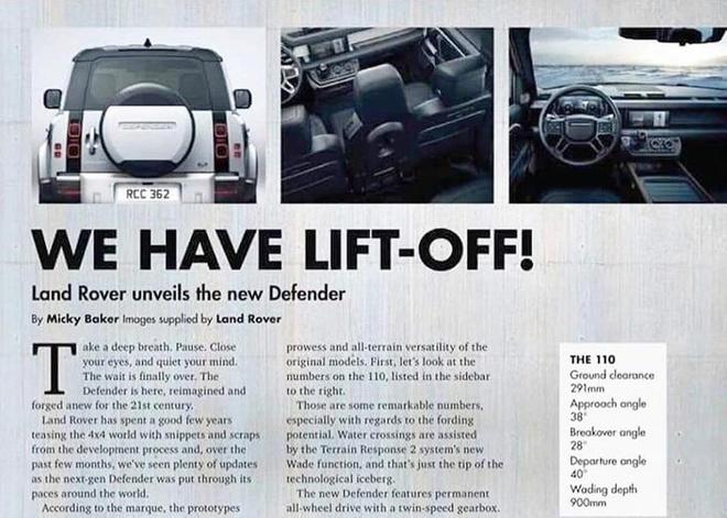 Land Rover Defender 2020 lo thong tin chi tiet truoc le ra mat hinh anh 1
