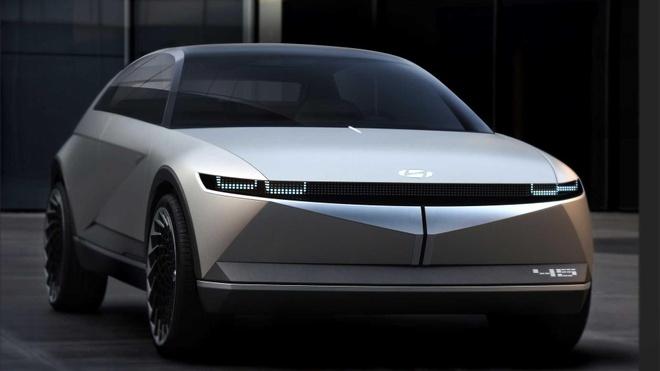 Hyundai trinh dien concept xe dien tuong lai, lay cam hung tu qua khu hinh anh 1