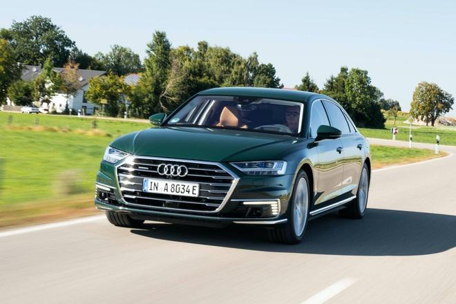 Audi lan dau tien ra mat sedan hang sang A8 plug-in hybrid hinh anh 1