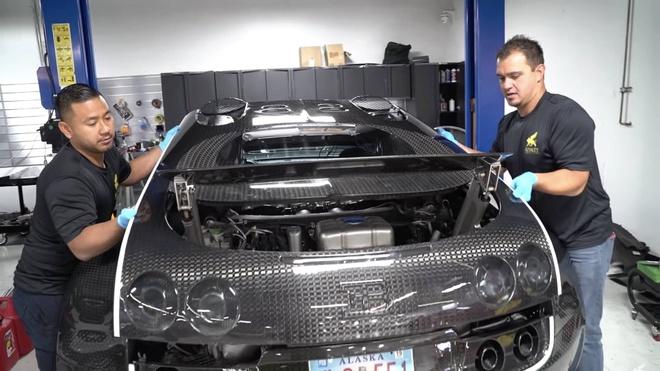 Van hanh Bugatti Veyron trong 2 nam, chu xe ton 100.000 USD hinh anh 2 bugatti-veyron-oil-change.jpg