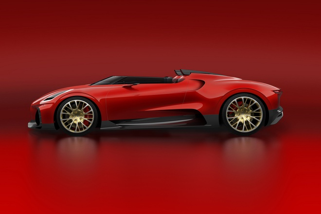 Bugatti se chi san xuat mot chiec Chiron Roadster anh 2