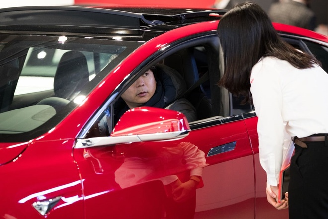 xe dien Tesla thanh trao luu moi tai Han Quoc anh 2