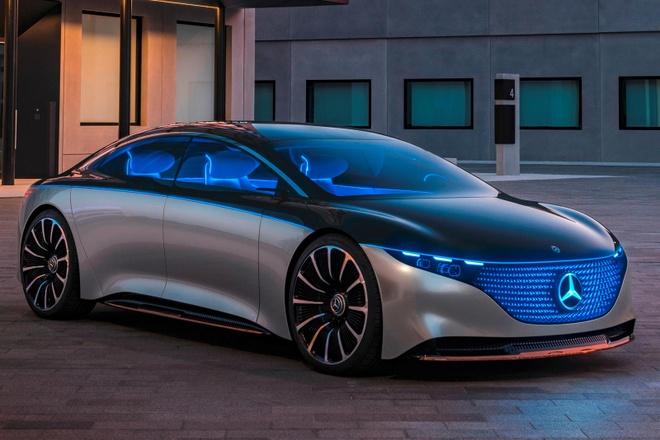 Mercedes ra mat oto dien manh hon Tesla anh 1
