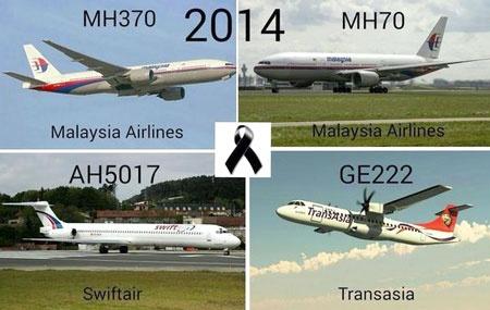 Bốn thảm họa máy bay lớn liên tiếp xảy đến với ngành hàng không thế giới.