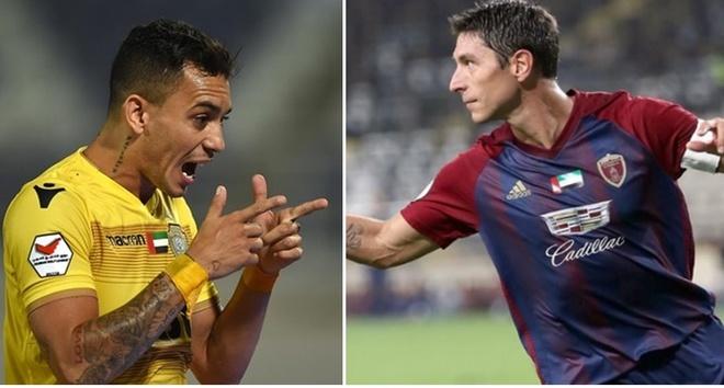 Tiền đạo  người Brazil Caio Canedo (trái) và Sebastian Tagliabue (người Argentina) đủ điều kiện chơi cho ĐTQG UAE. Ảnh: Getty Images.