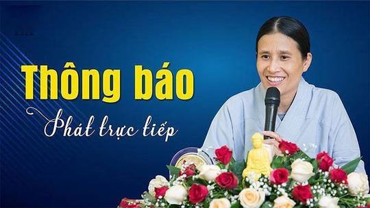 Tru tri chua Ba Vang noi gi ve viec ba Pham Thi Yen lai thuyet giang? hinh anh 1