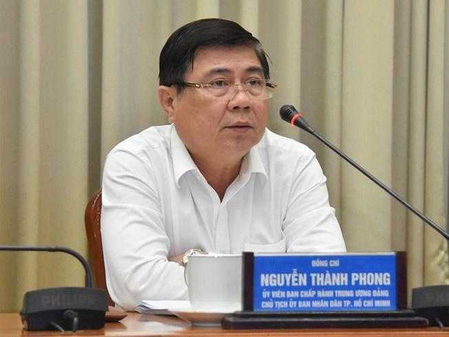 Chủ tịch UBND TP Nguyễn Thành Phong phát biểu tại hội nghị xây dựng đô thị thông minh.